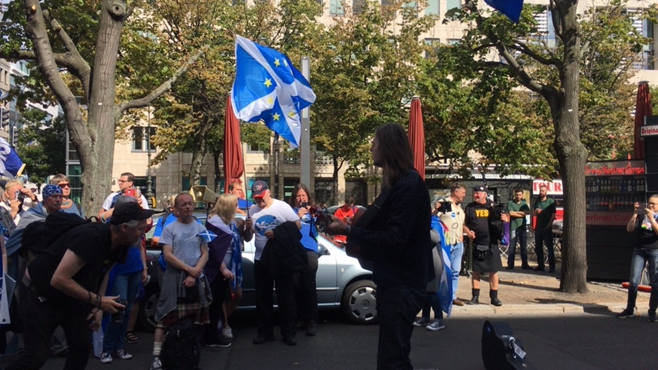 LIVE Saturday 10am from BERLIN: International March for Scottish Independen