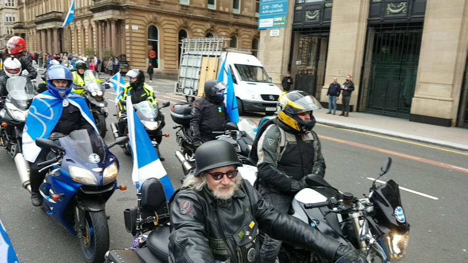 Yes Bikers arriving Freedom Square