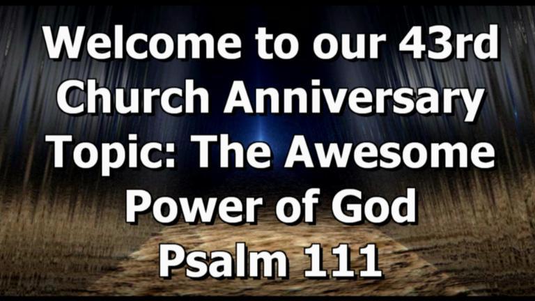 annual church anniversary on livestream