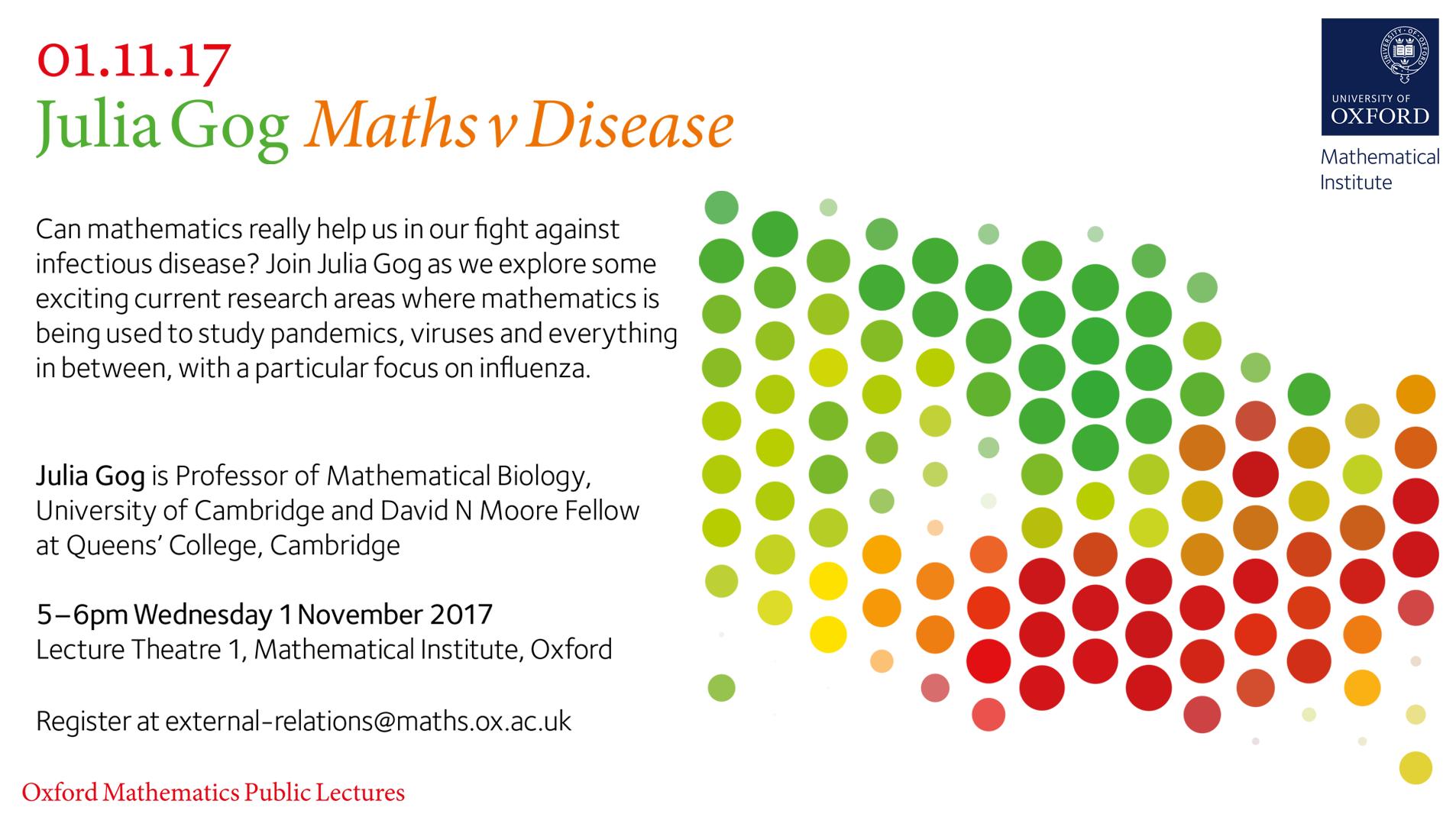 Maths v Disease - Julia Gog on Livestream