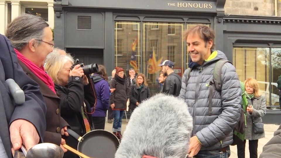 Edinburgh demo at Spanish Consulate