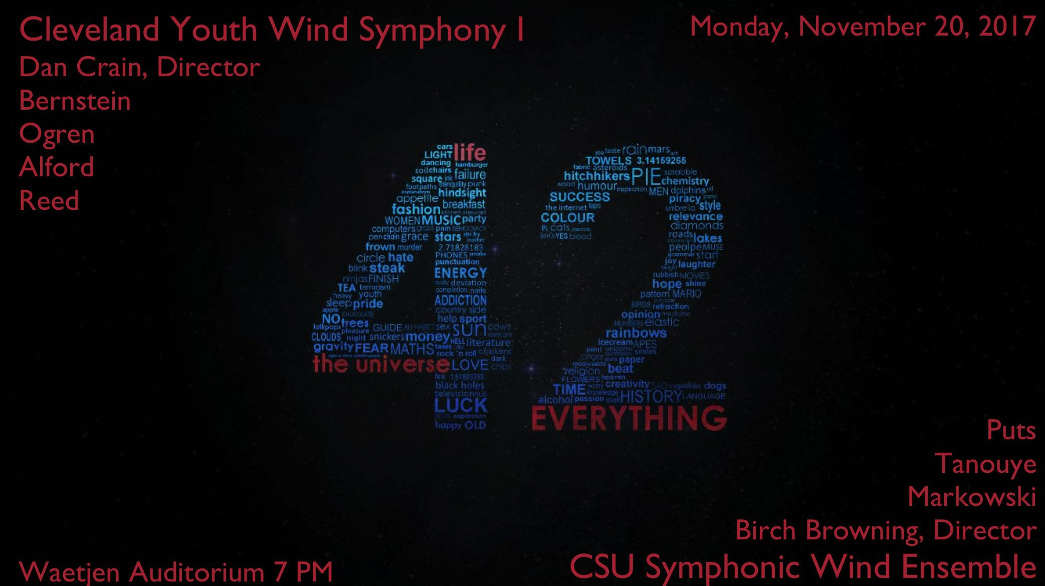 a personal account of attending the remembering 911 csu wind symphony concert by dr rebecca phillips These of the records of the international trombone association which as a 1979 folder 4 – detroit concert band 1993 at cleveland state university.