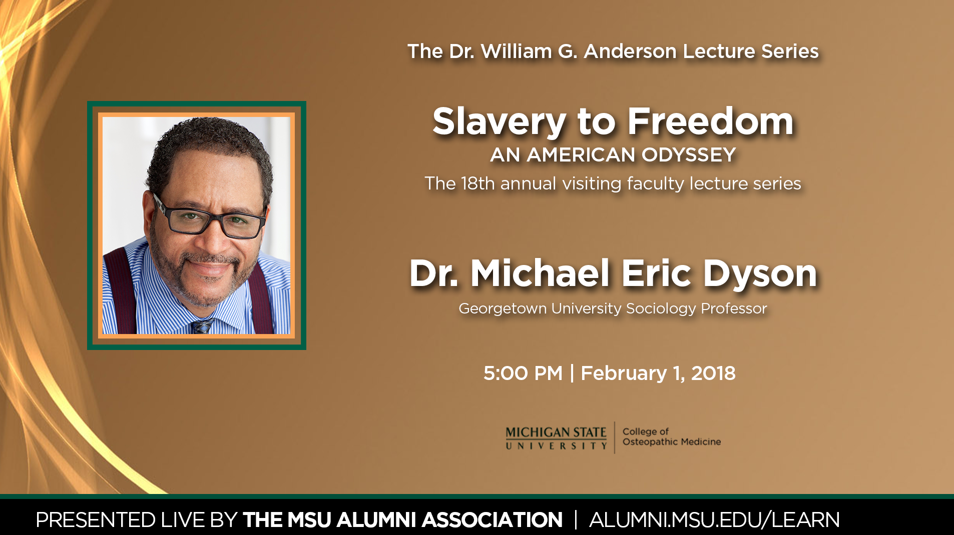 livestream cover image for Slavery to Freedom | Dr. Michael Eric Dyson