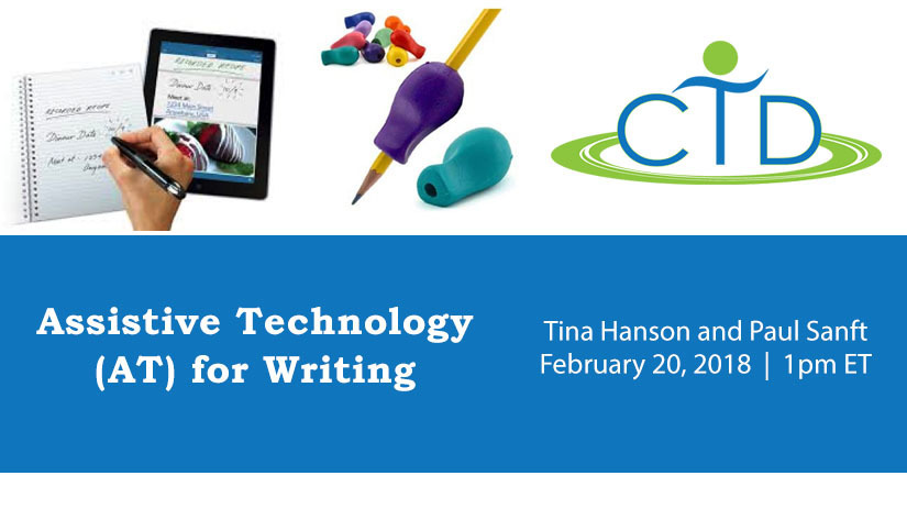 assistive technology for writing Learn how to use assistive technology to help your students with tbi become better writers.