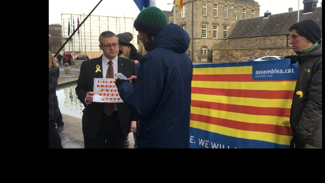 Catalan Defence Committee 21D rally at Holyrood