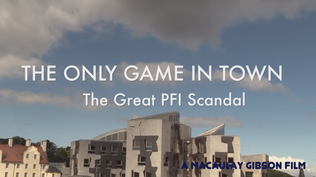 'The Only Game in Town' and PFI.