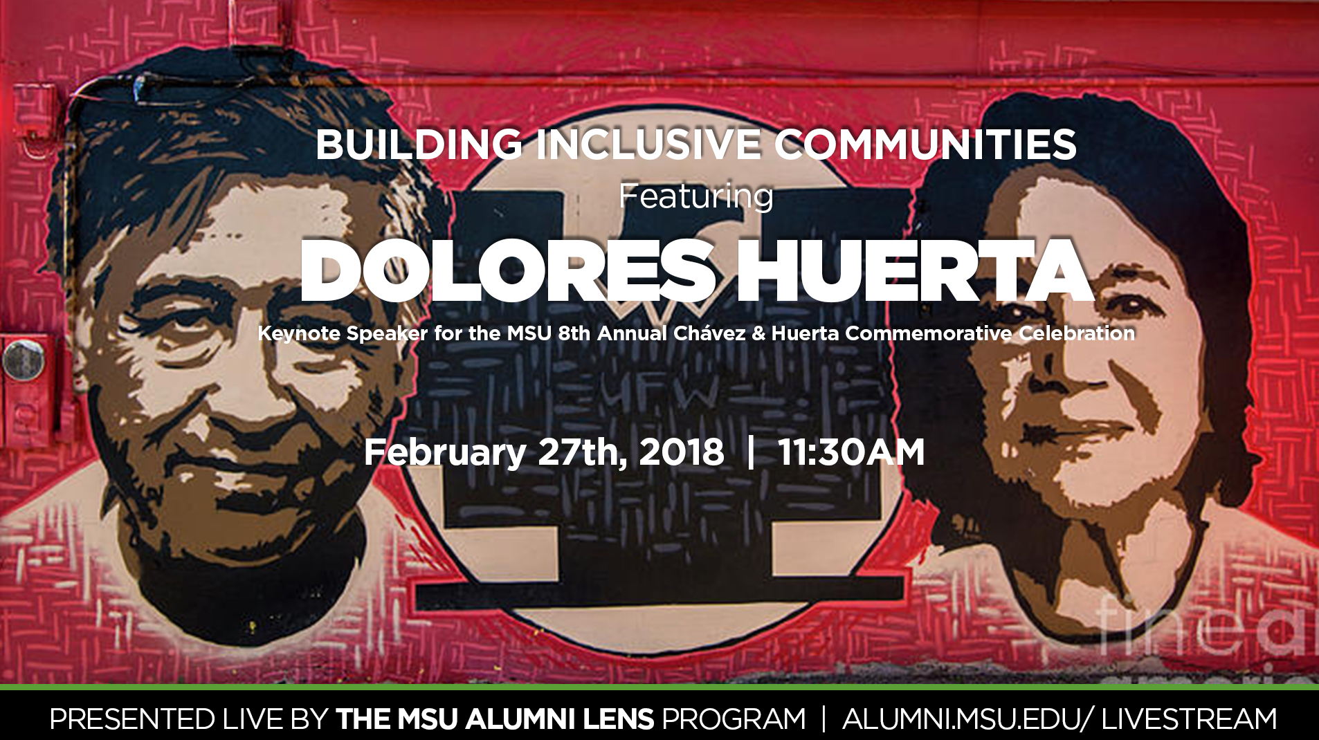 livestream cover image for The 8th Annual MSU Regional César E. Chávez & Dolores Huerta Commemorative Celebration