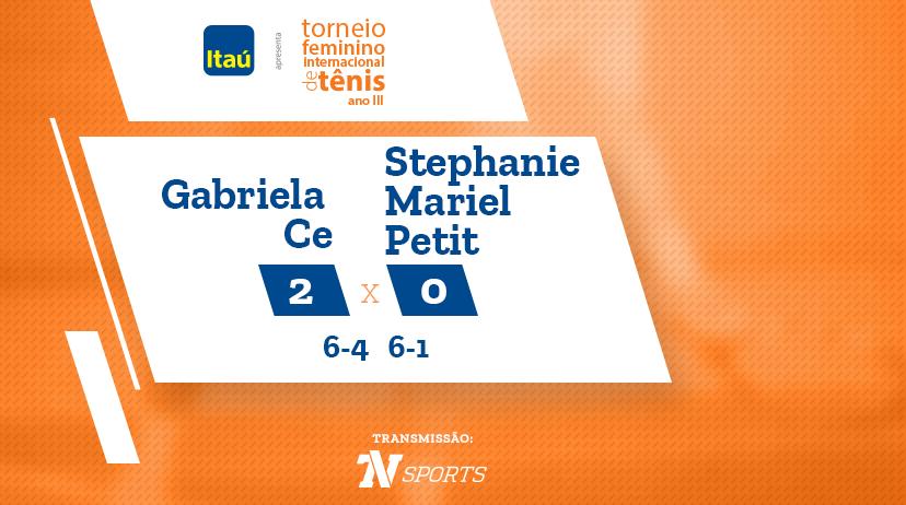 TFIT - Gabriela CE vs Stephanie Mariel PETIT