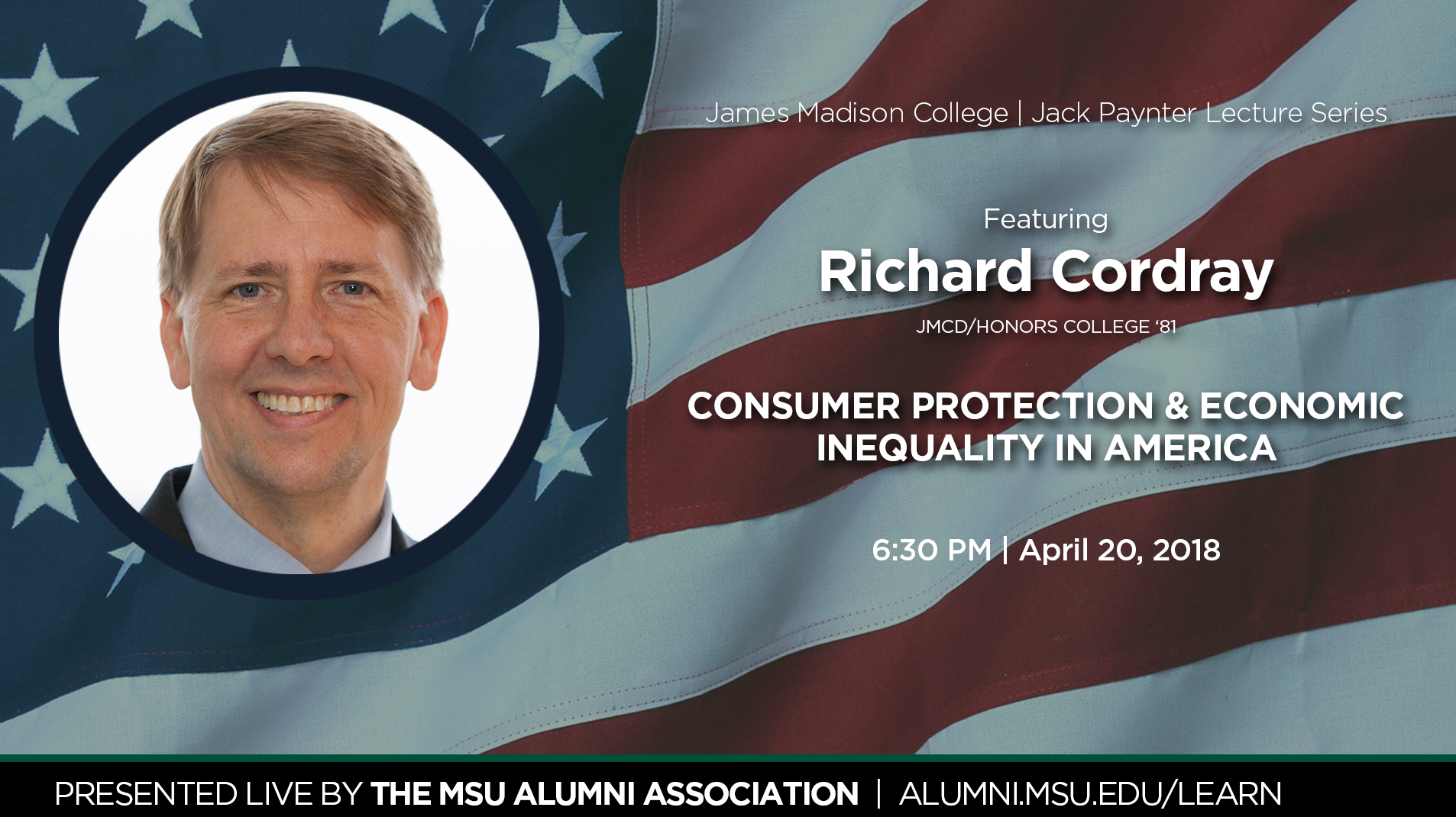 livestream cover image for Richard Cordray | Jack Paynter Endowed Lecture 2018