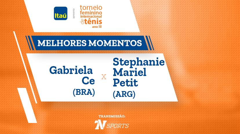 Melhores momentos de Gabriela CE vs Stephanie Mariel PETIT