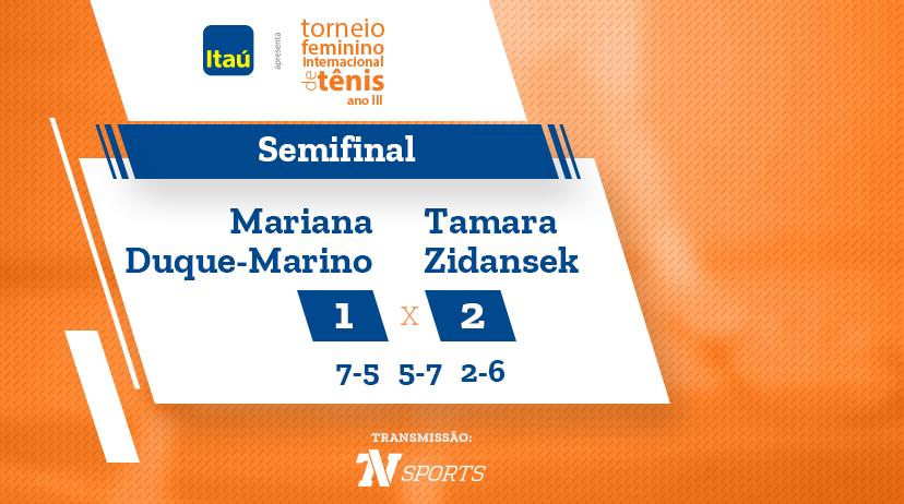 TFIT - Semifinal: Mariana DUQUE-MARINO vs Tamara ZIDANSEK