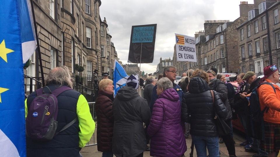 Edinburgh demo protesting the European Arrest Warrant