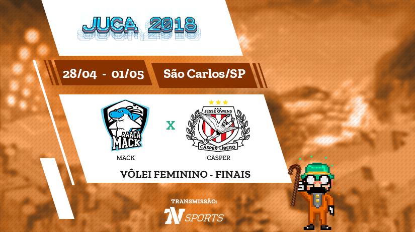 Juca - Vôlei Fem - Final - Mack vs Cásper - 10h30