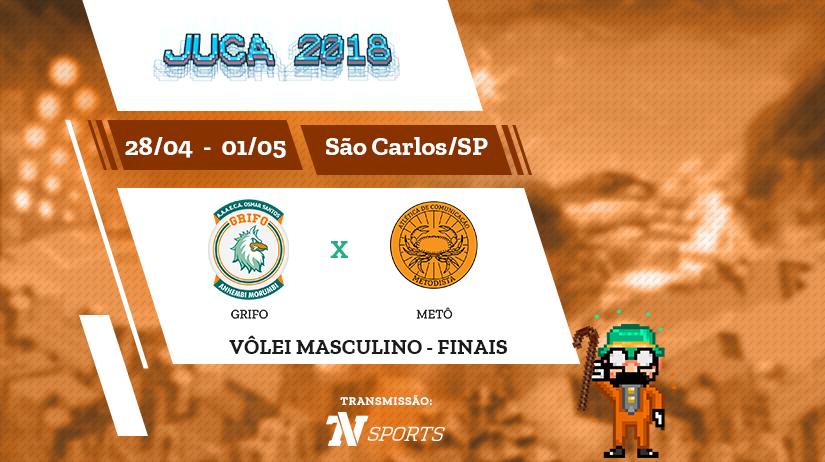 Juca - Vôlei Masc - Final - Grifo vs Metô - 15h45