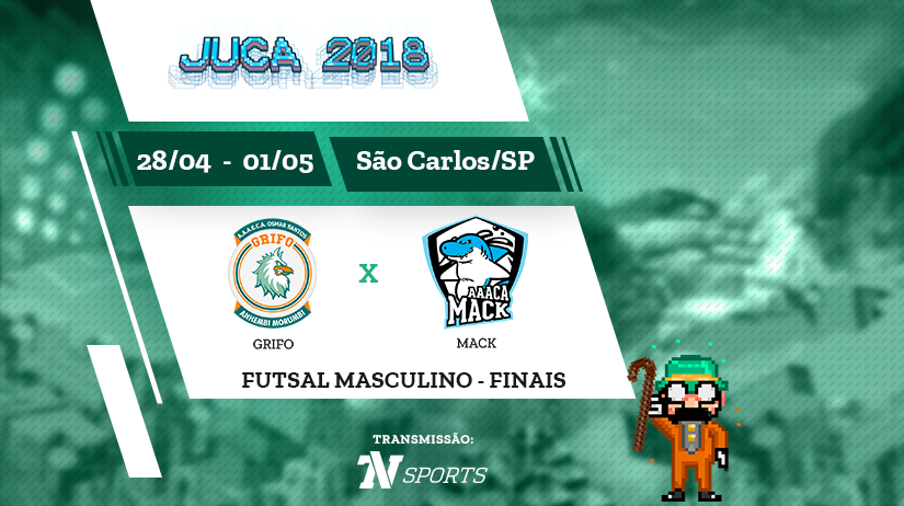 Juca - Futsal Masc - Final - Grifo vs Mack - 16h00