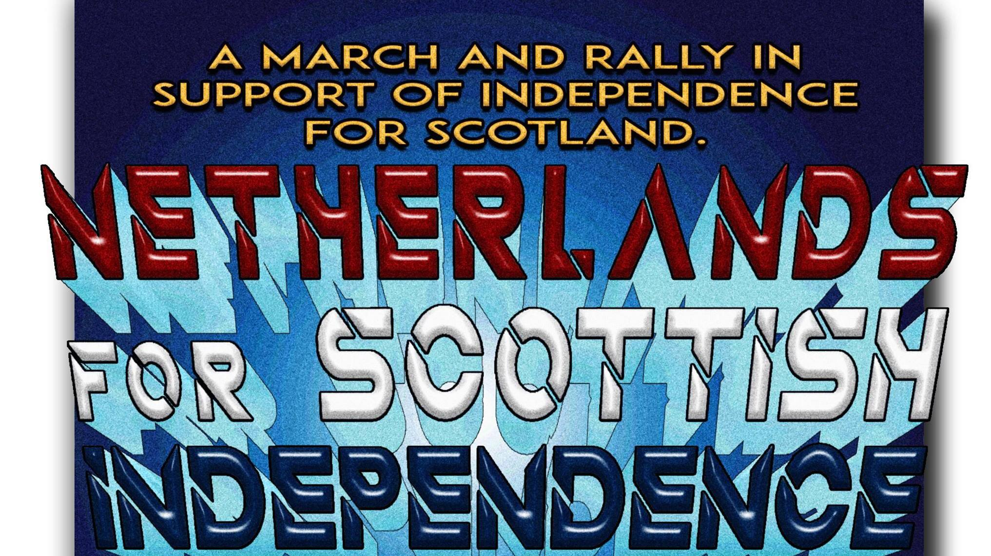Netherlands march and rally for Scottish Independence