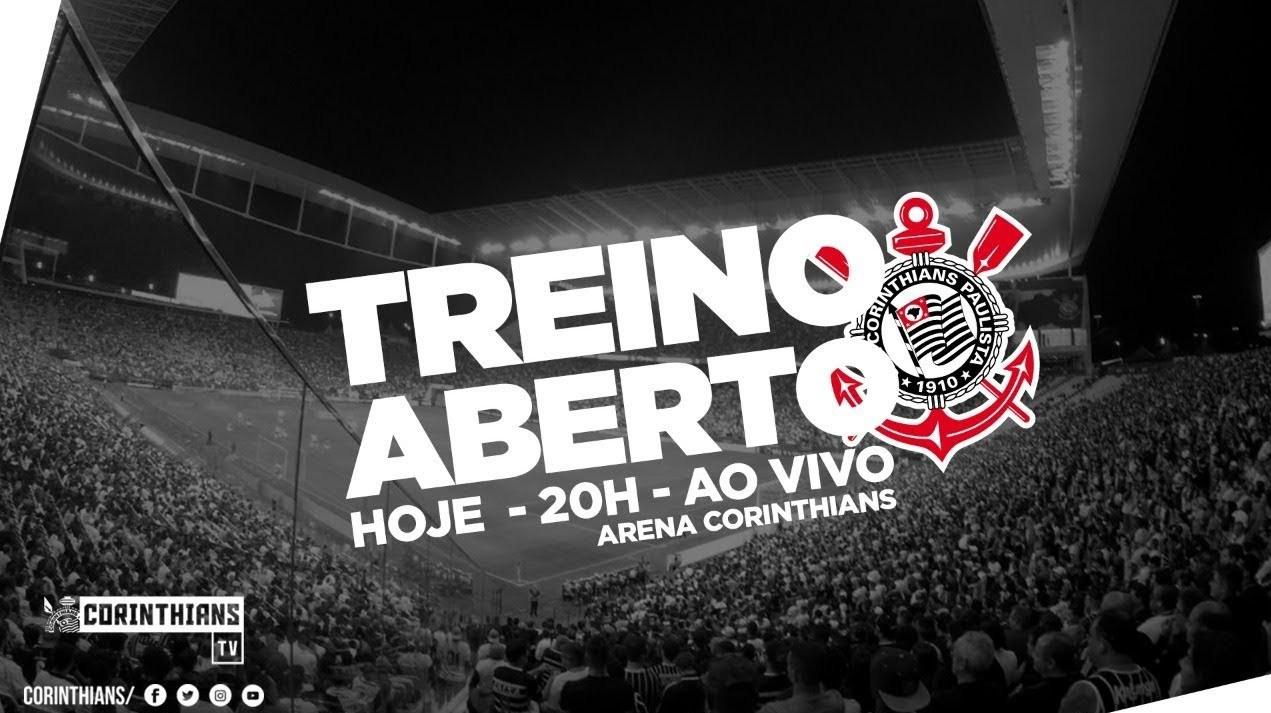 Treino aberto na Arena Corinthians (AO VIVO)
