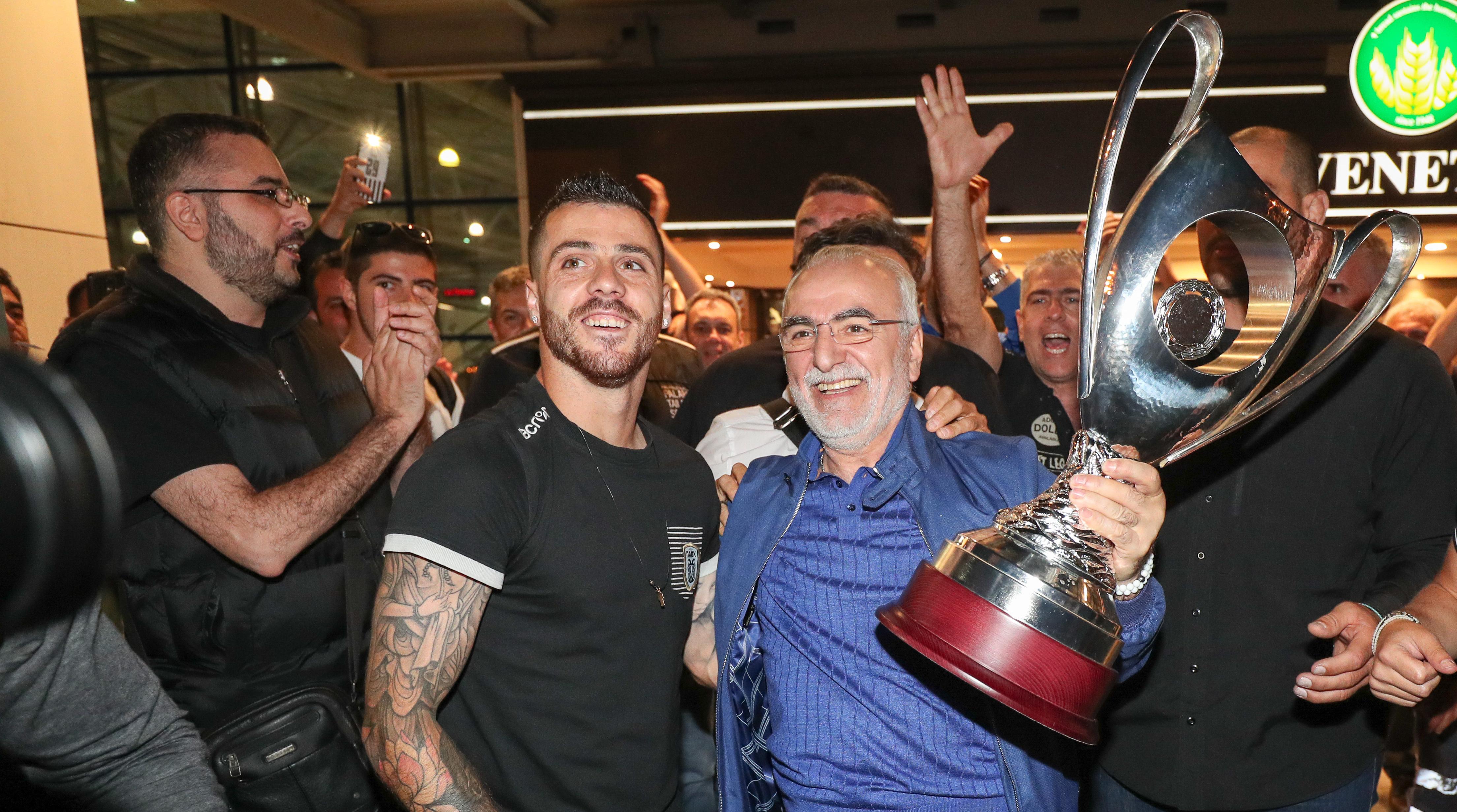 Trophy handover to Ivan Savvidis