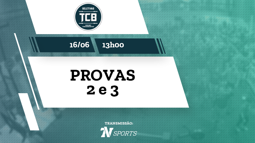 Provas 2 e 3 | TCB | Seletivas Jundiaí