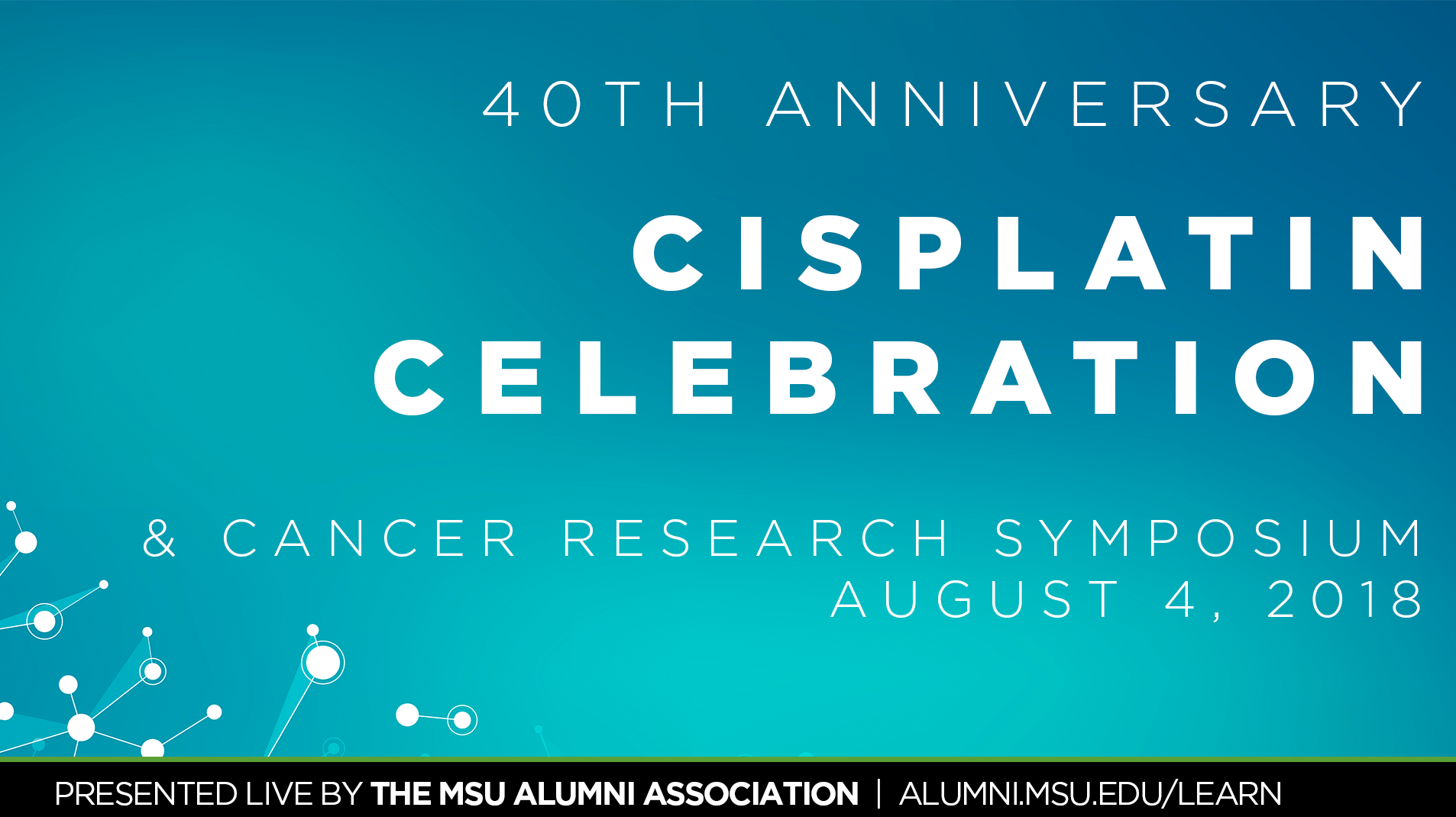 livestream cover image for 40th Anniversary Cisplatin Celebration & Cancer Research Symposium