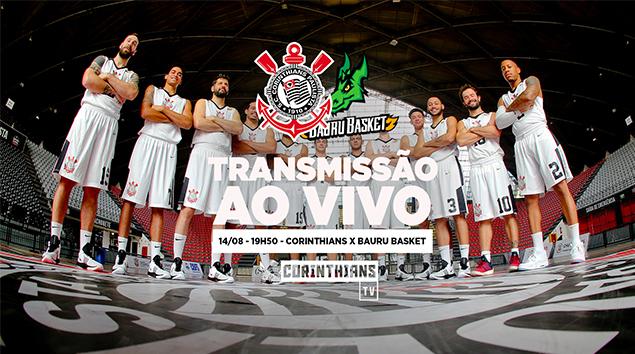 14/08 - 19h50 | AO VIVO - Corinthians x Bauru - Paulistão de Basquete 2018