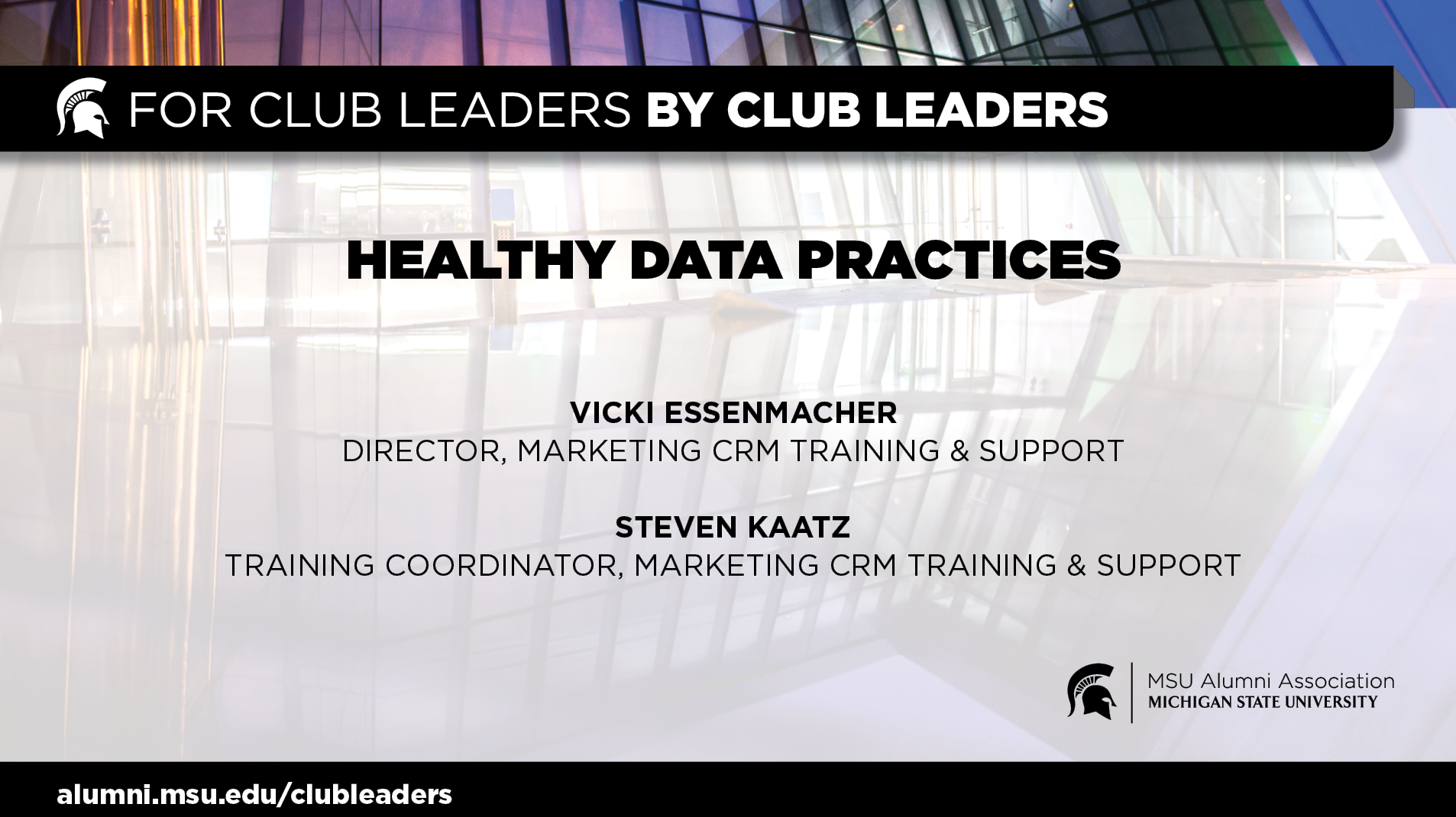 livestream cover image for Healthy Data Practices | Vicki Essenmacher & Steven Kaatz