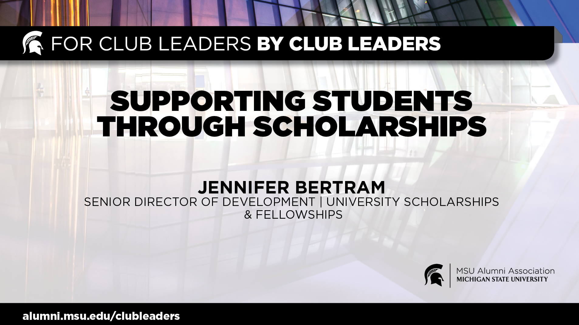 livestream cover image for Scholarships & Fellowships | Jennifer Bertram