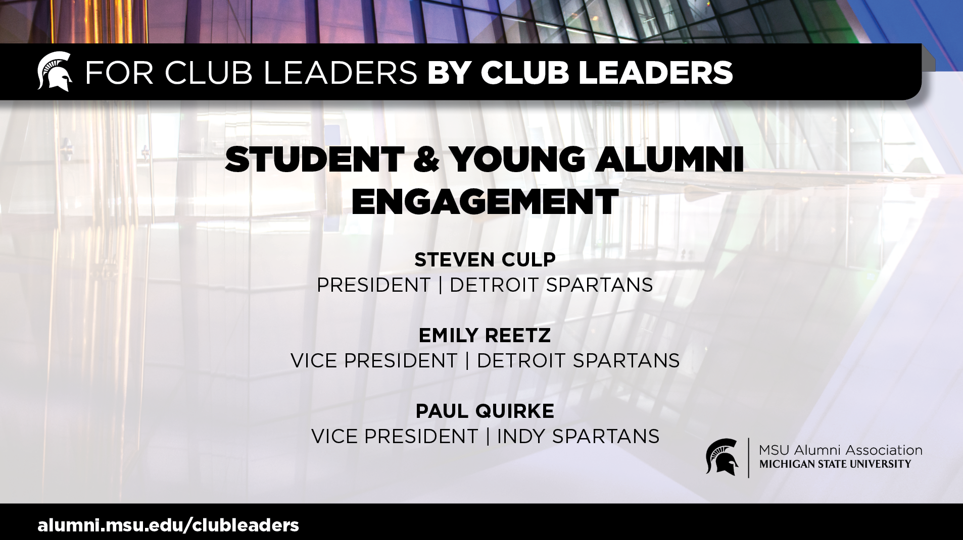 livestream cover image for Student & Young Alumni Engagement | Indy & Detroit Spartans
