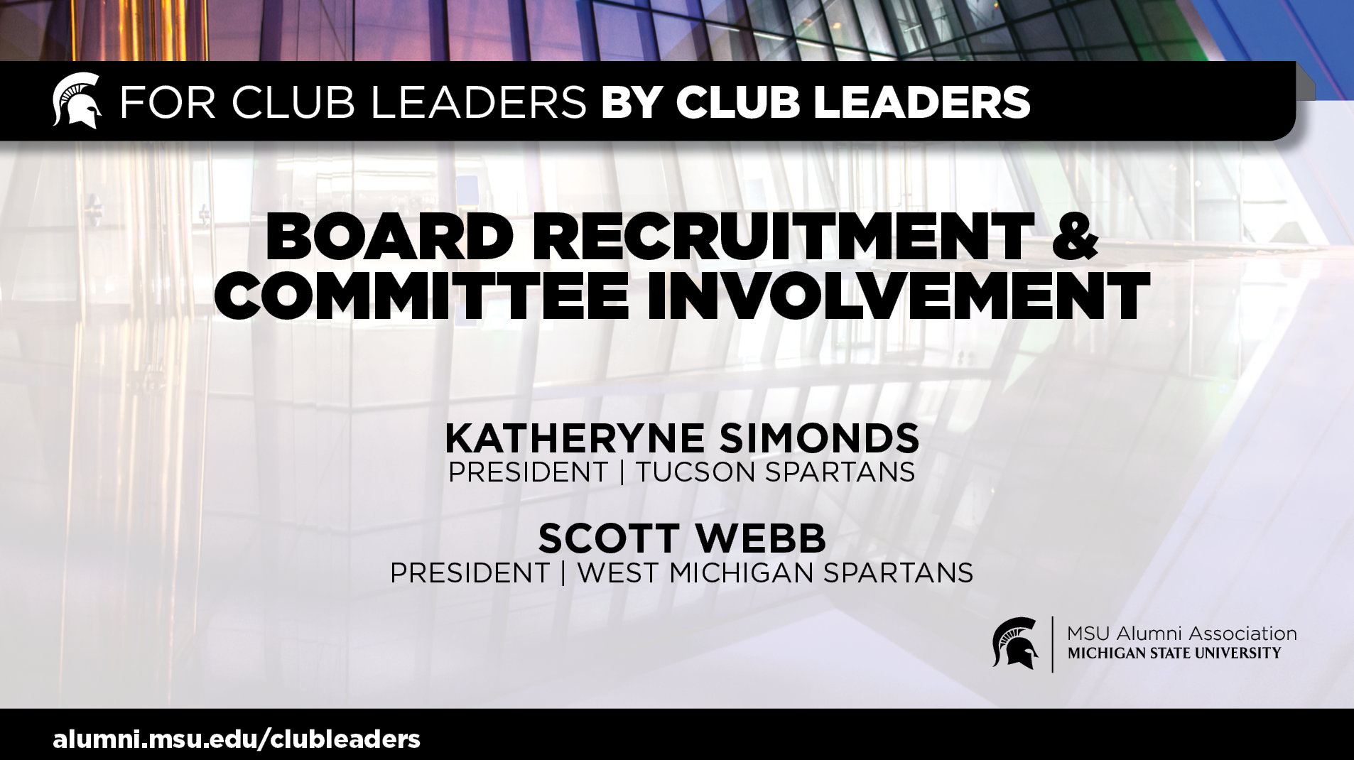 livestream cover image for Board Recruitment & Committee Involvement | Tucson & West Mich Spartans