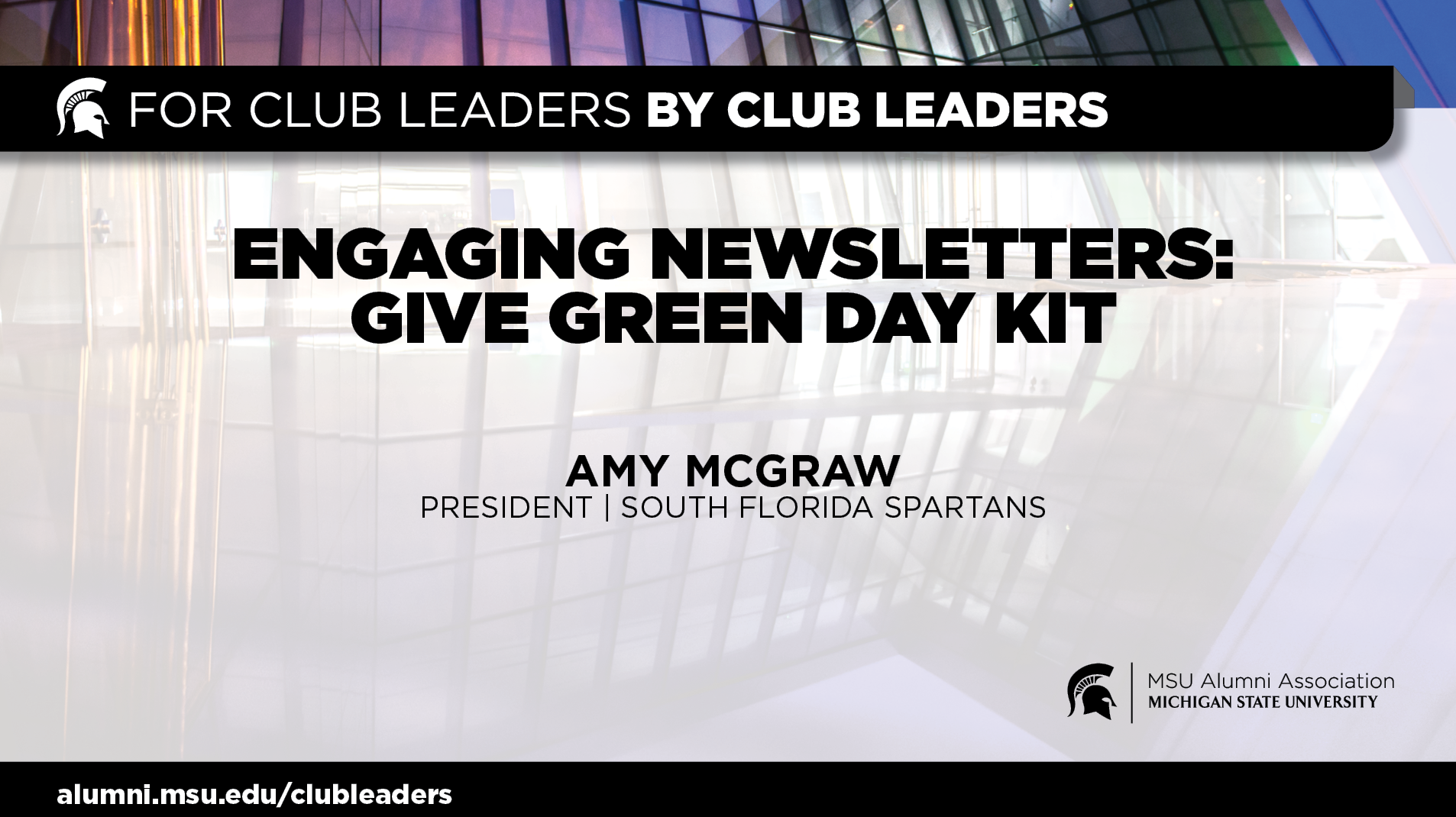 livestream cover image for Engaging Newsletter: GiveGreenDay Kit   Amy Mcgraw