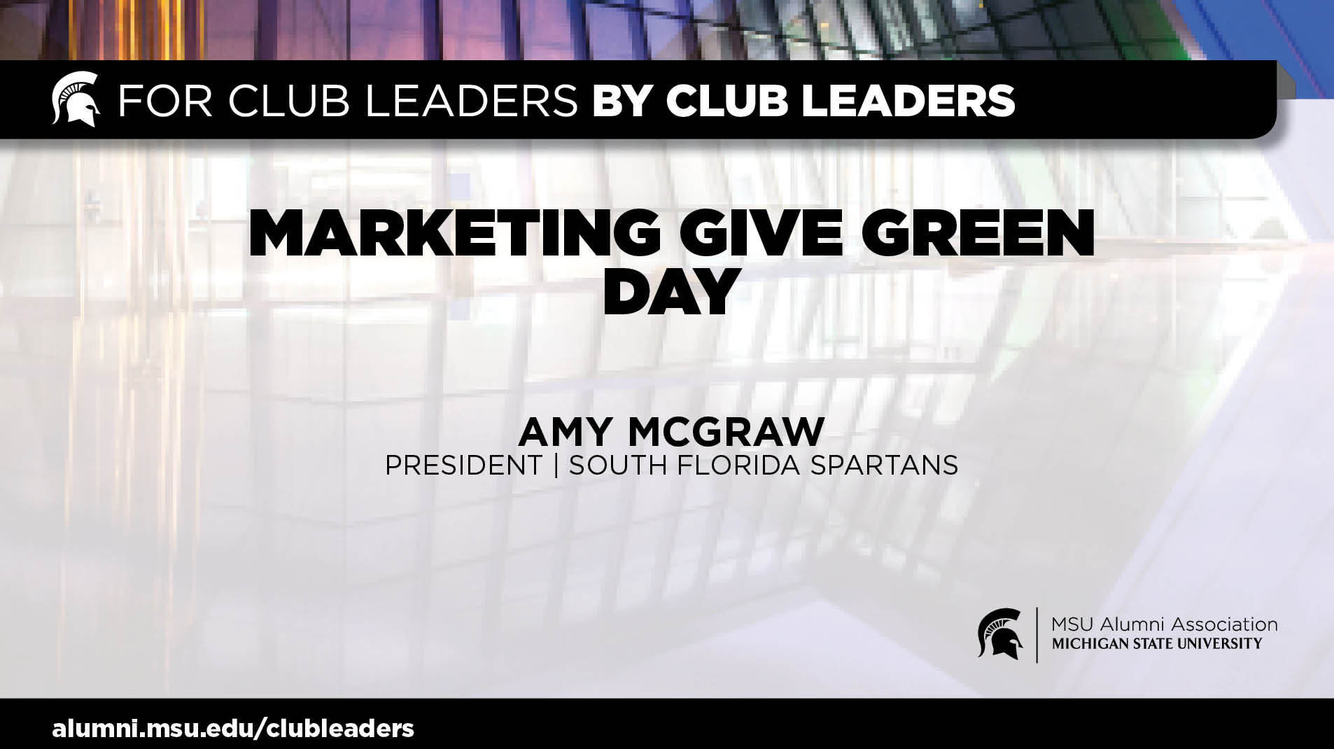 livestream cover image for Marketing Give Green Day | Amy Mcgraw
