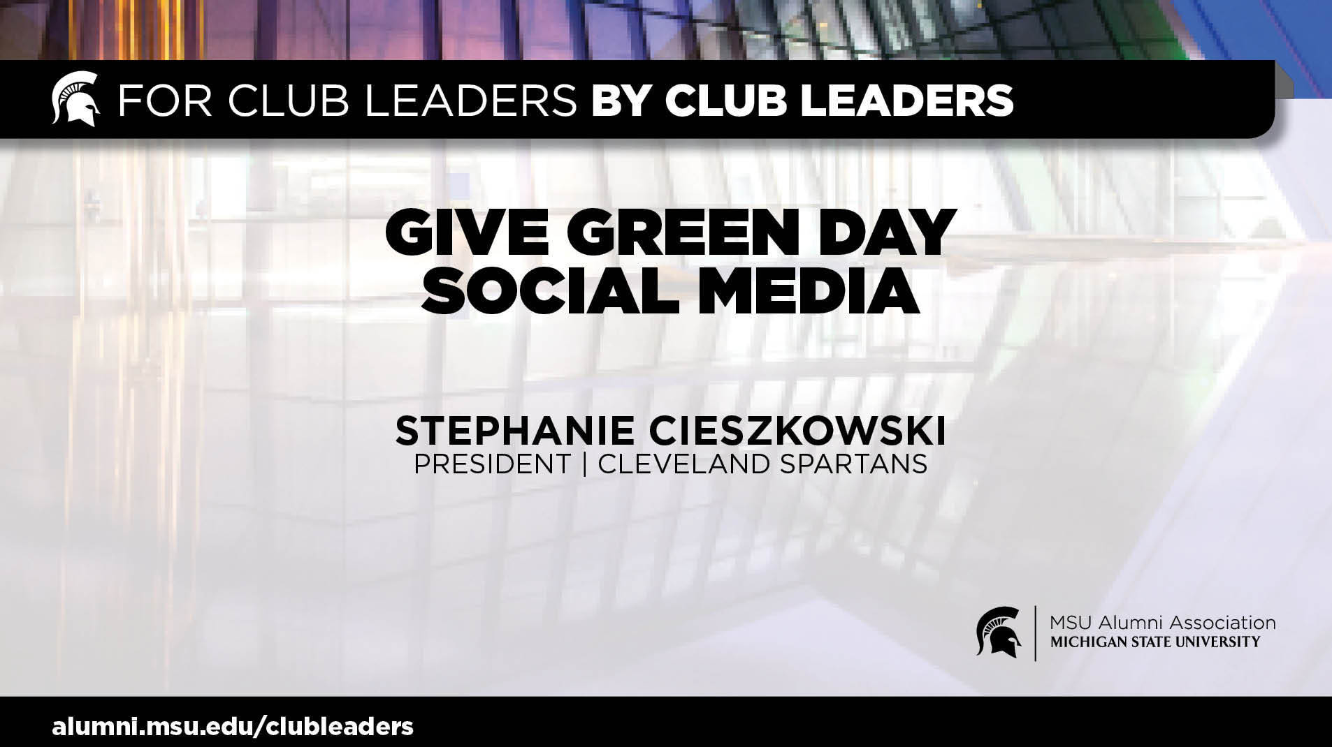 livestream cover image for Give Green Day Social Media | Stephanie Cieszkowski