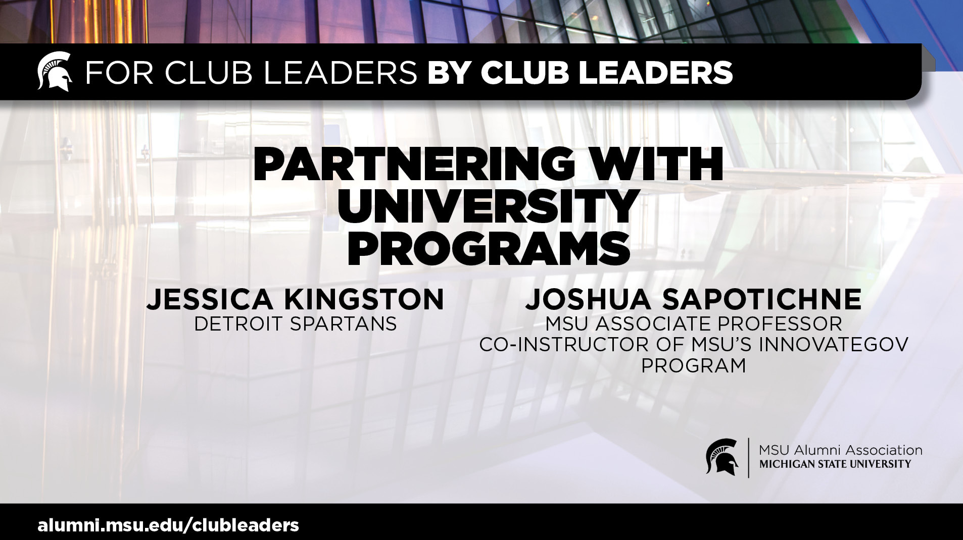 livestream cover image for Partnering with University Programs | Jessica Kingston & Joshua Sapotichne