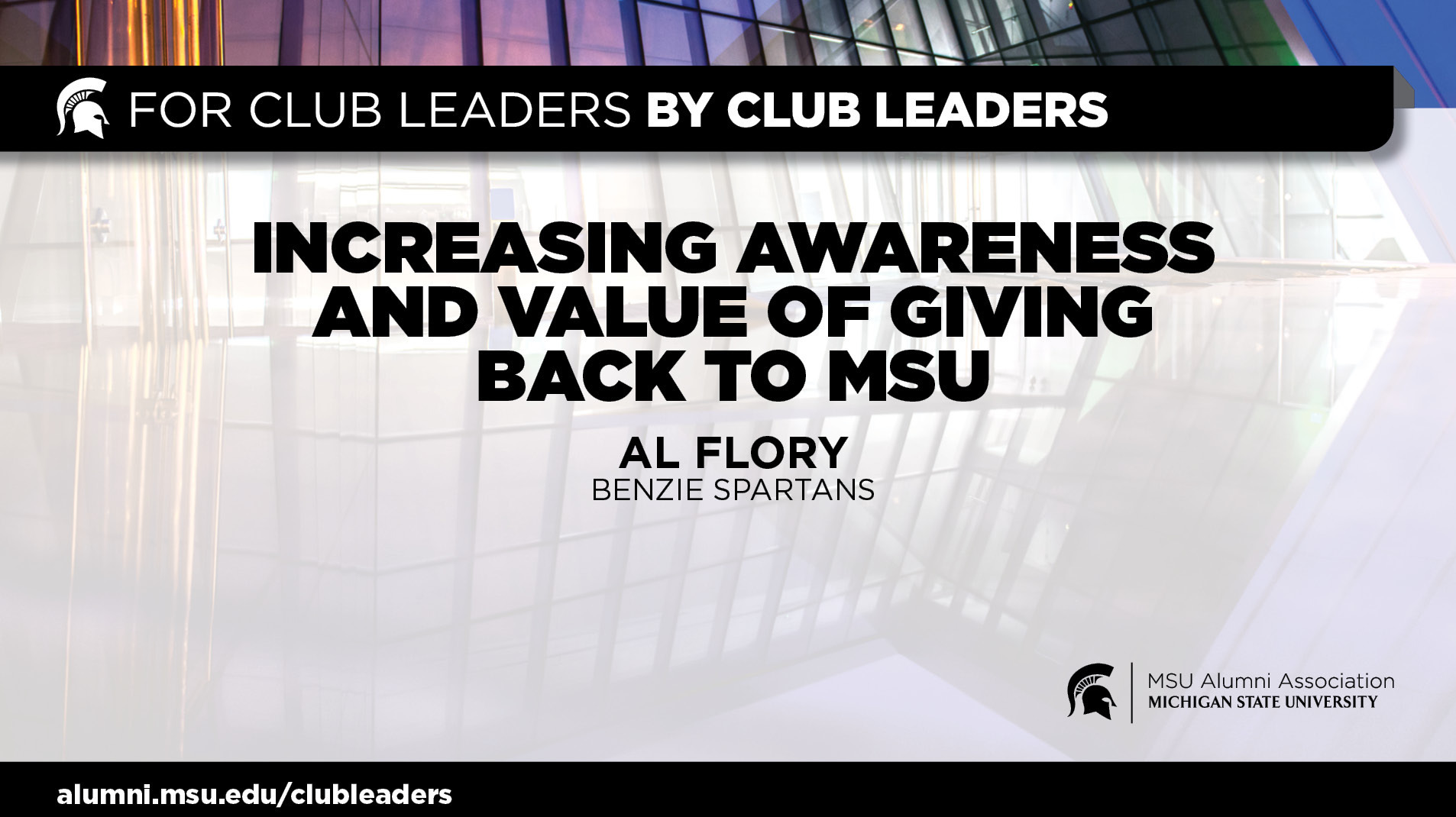 livestream cover image for Philanthropy - Increasing Awareness and Value of Giving Back to MSU | Al Flory