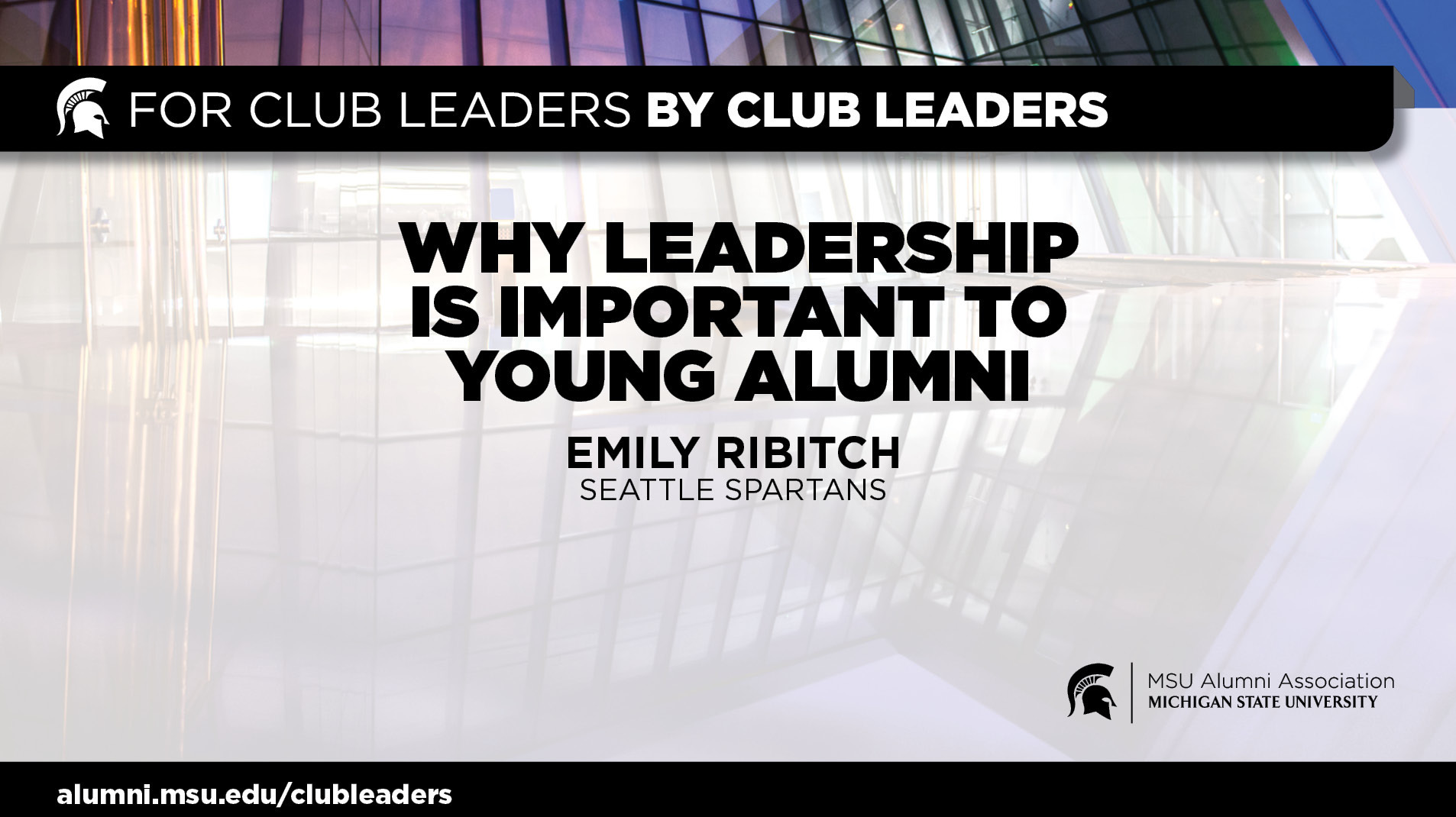 livestream cover image for Why Leadership is Important to Young Alumni | Emily Ribitch