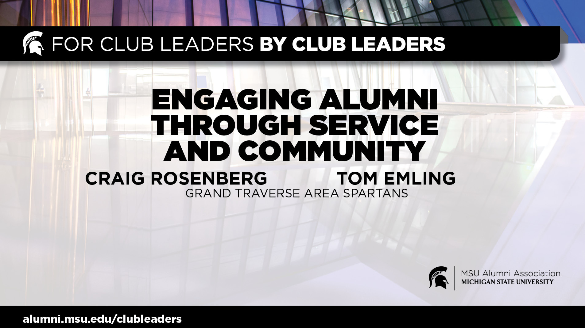 livestream cover image for Engaging Alumni through Service & Community Partnerships | Craig Rosenberg and Tom Emling
