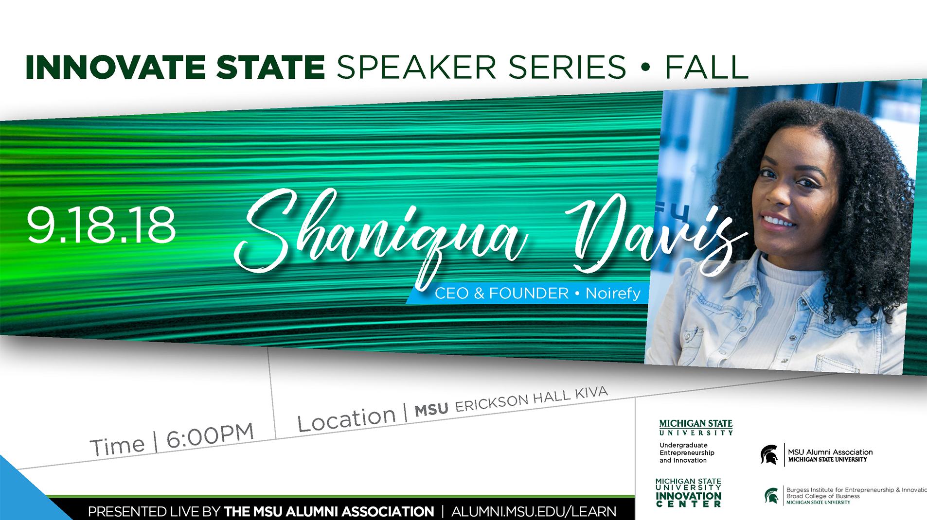 livestream cover image for Innovate State | Shaniqua Davis
