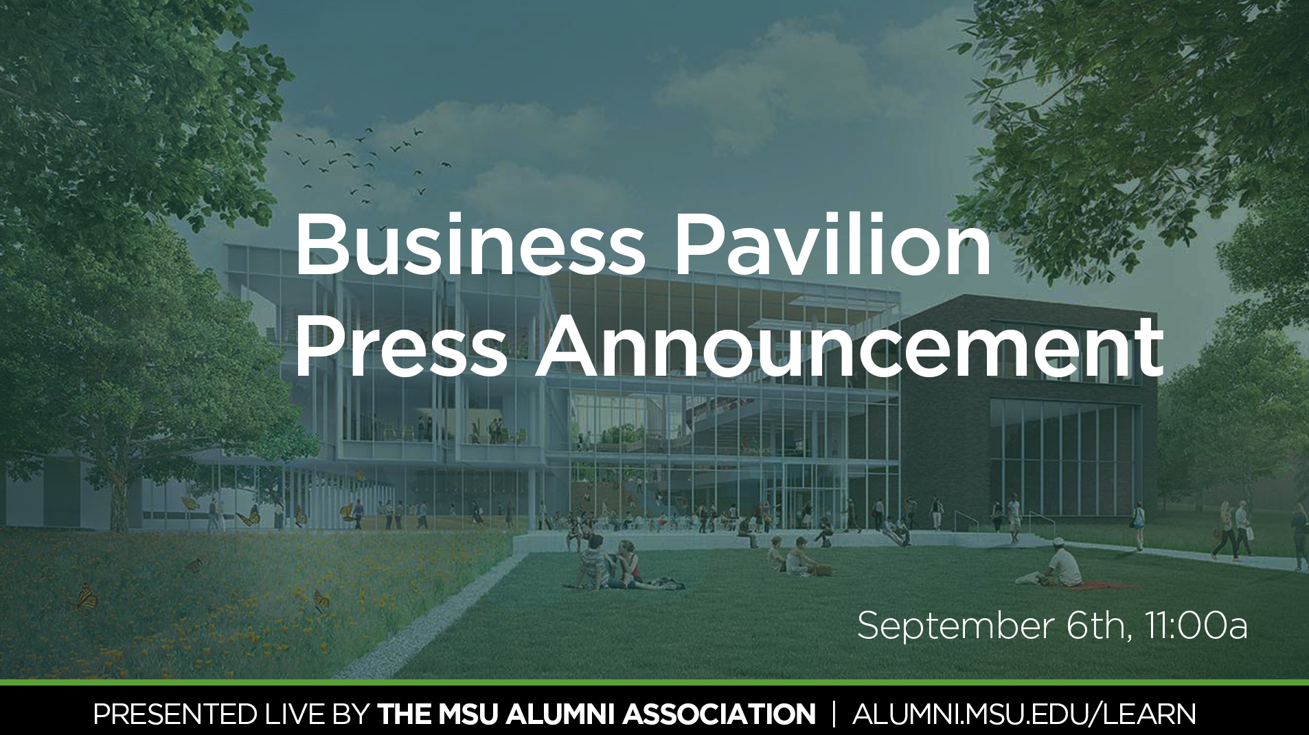 livestream cover image for Business Pavilion Press Announcement