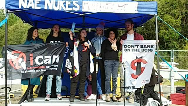 NAE NUKES ANYWHERE! SCND International Rally, Faslane