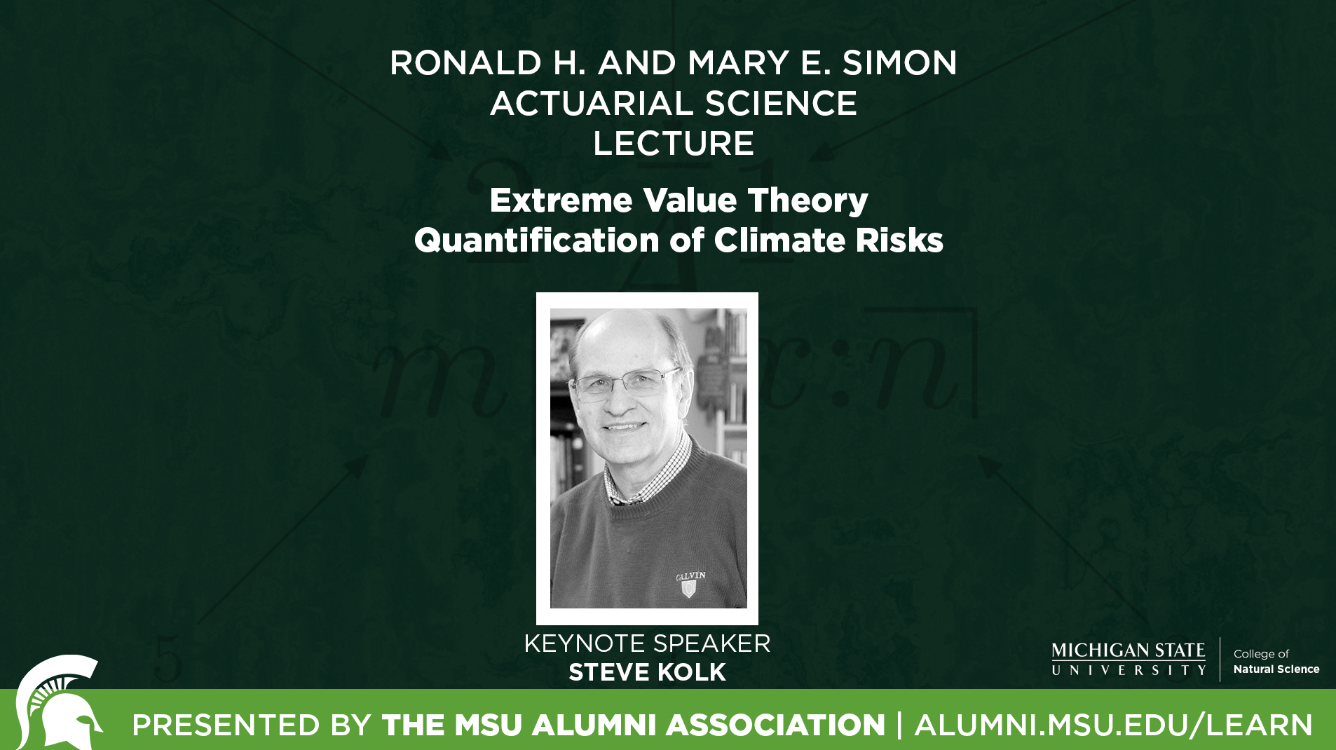 livestream cover image for 2018 Ronald H. & Mary E. Simon Lecture | Steve Kolk
