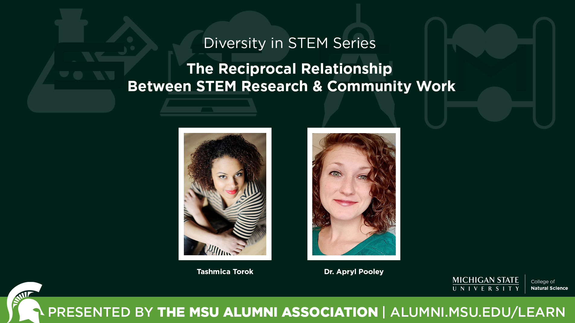 livestream cover image for Diversity In STEM Series | The Reciprocal Relationship Between STEM Research & Community Work
