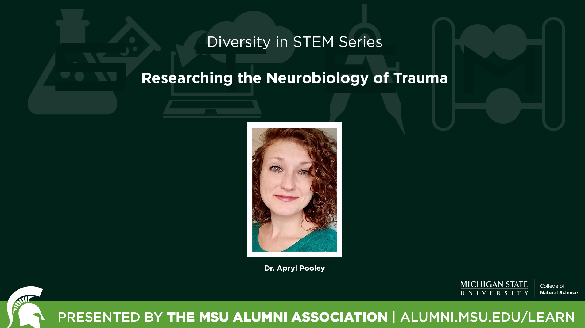 livestream cover image for Diversity In STEM Series | Researching the Neurobiology of Trauma