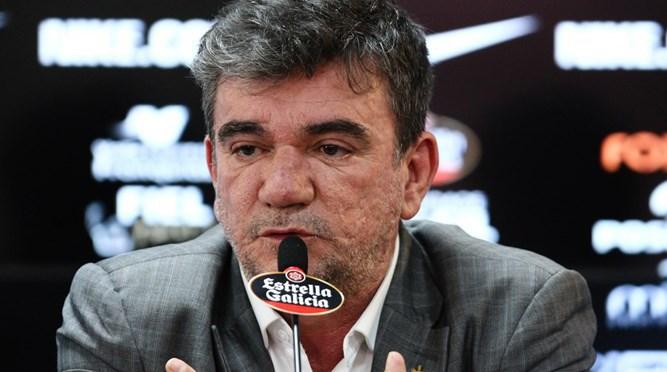 Andrés Sanchez fala em entrevista coletiva no CT