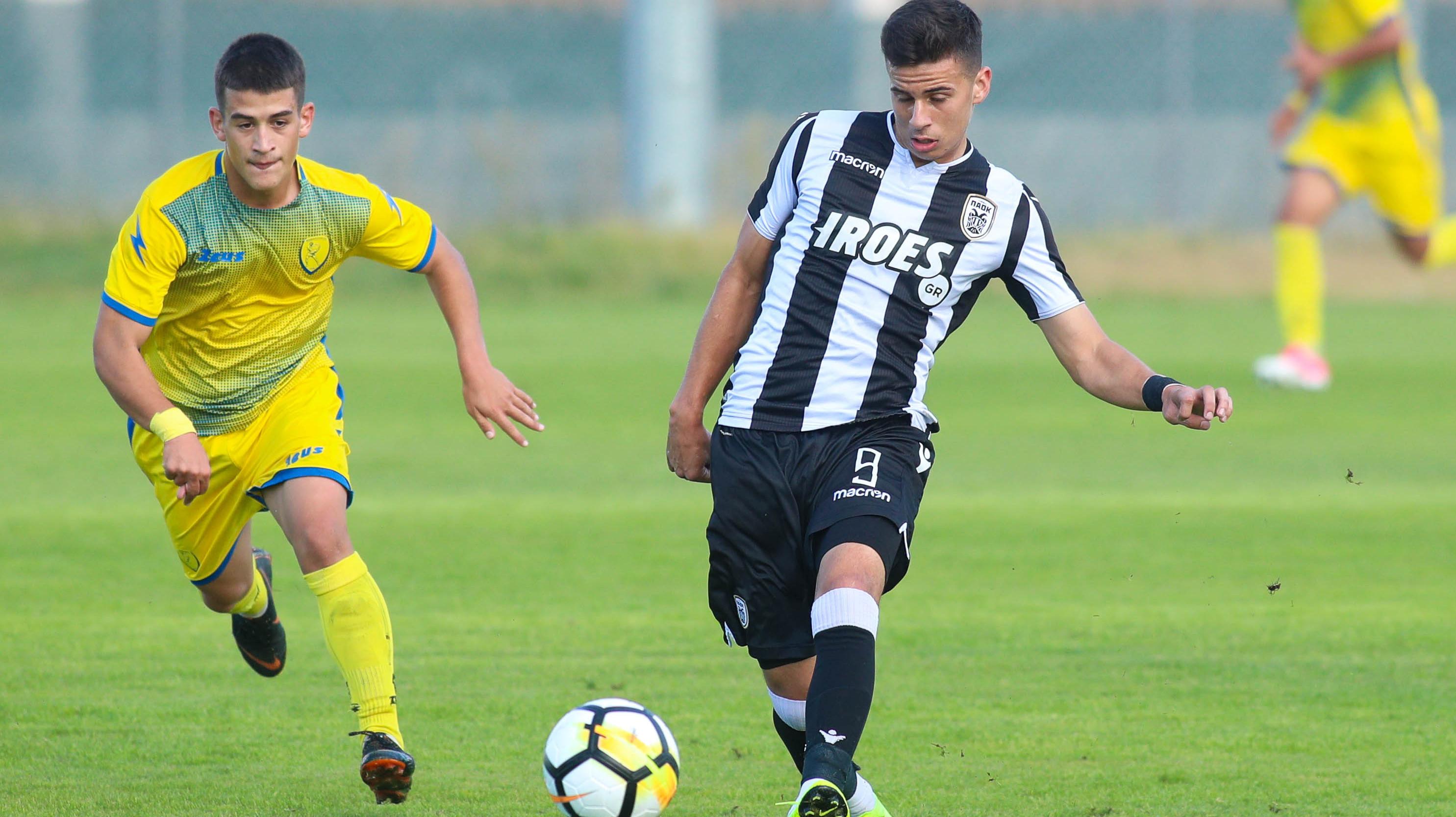 Моменты матча U-19 ПАОК-«Панетоликос»