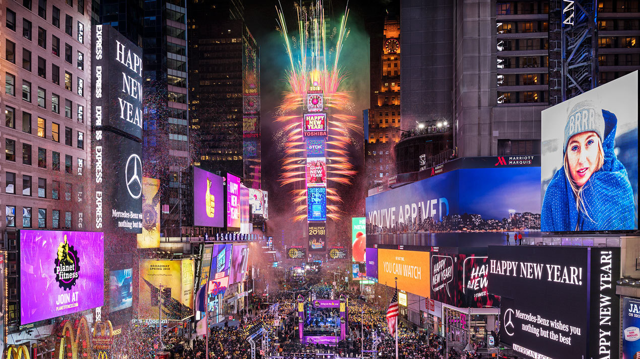 Times Square New Year's Eve Ball on FREECABLE TV
