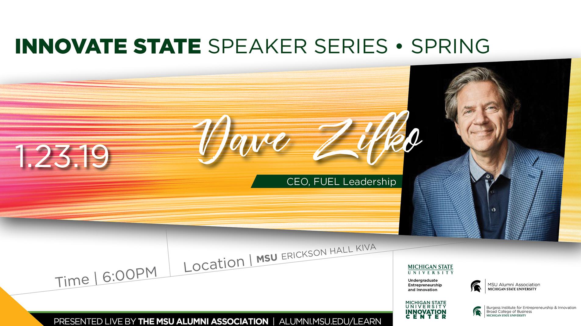 Livestream cover image for Innovate State   Dave Zilko
