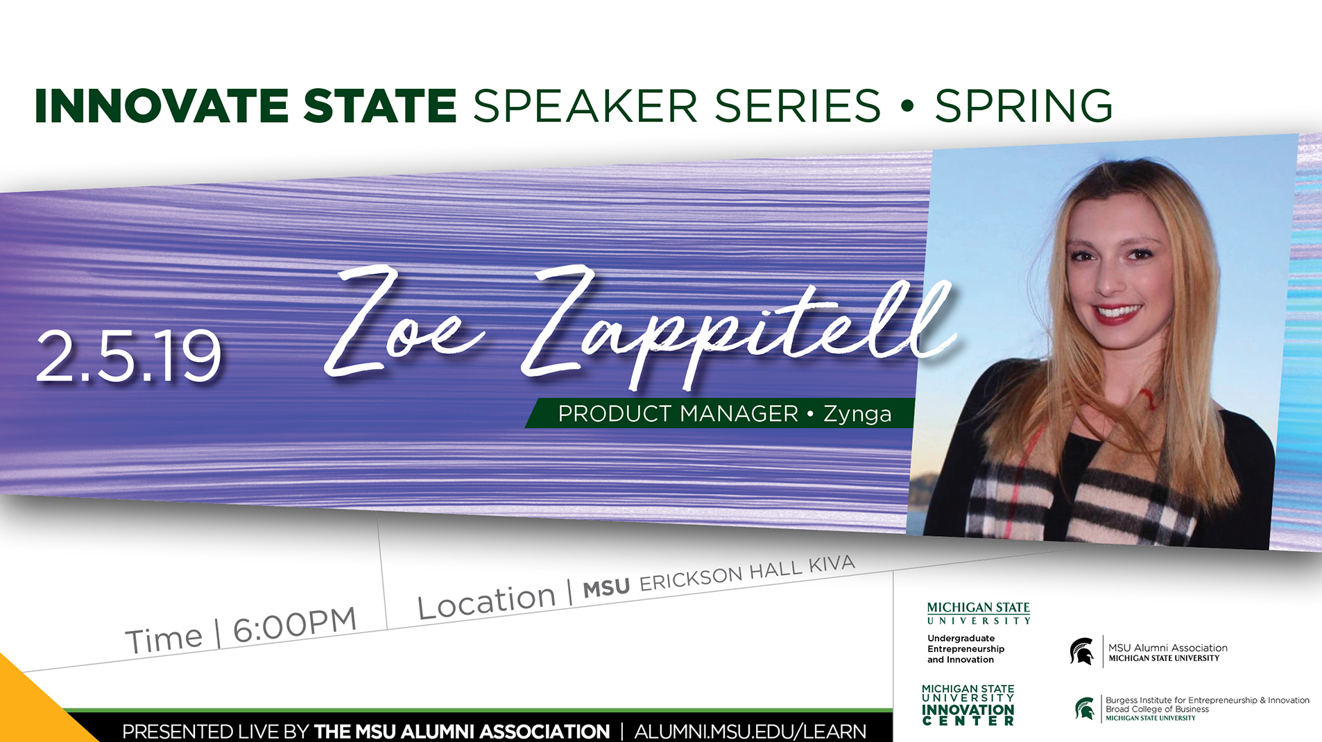 livestream cover image for Innovate State | Zoe Zappitell