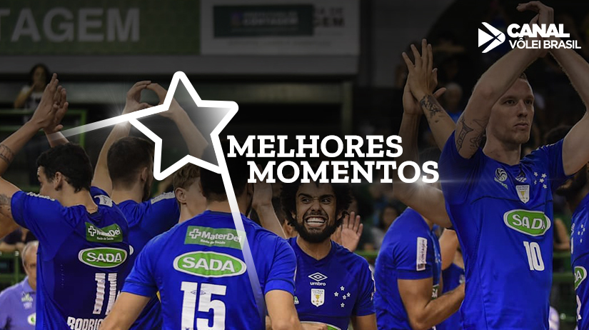 Melhores momentos de São Francisco Saúde/Vôlei Ribeirão vs Sada Cruzeiro Vôlei