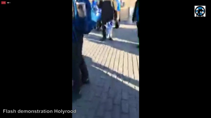 Flash demonstration Holyrood