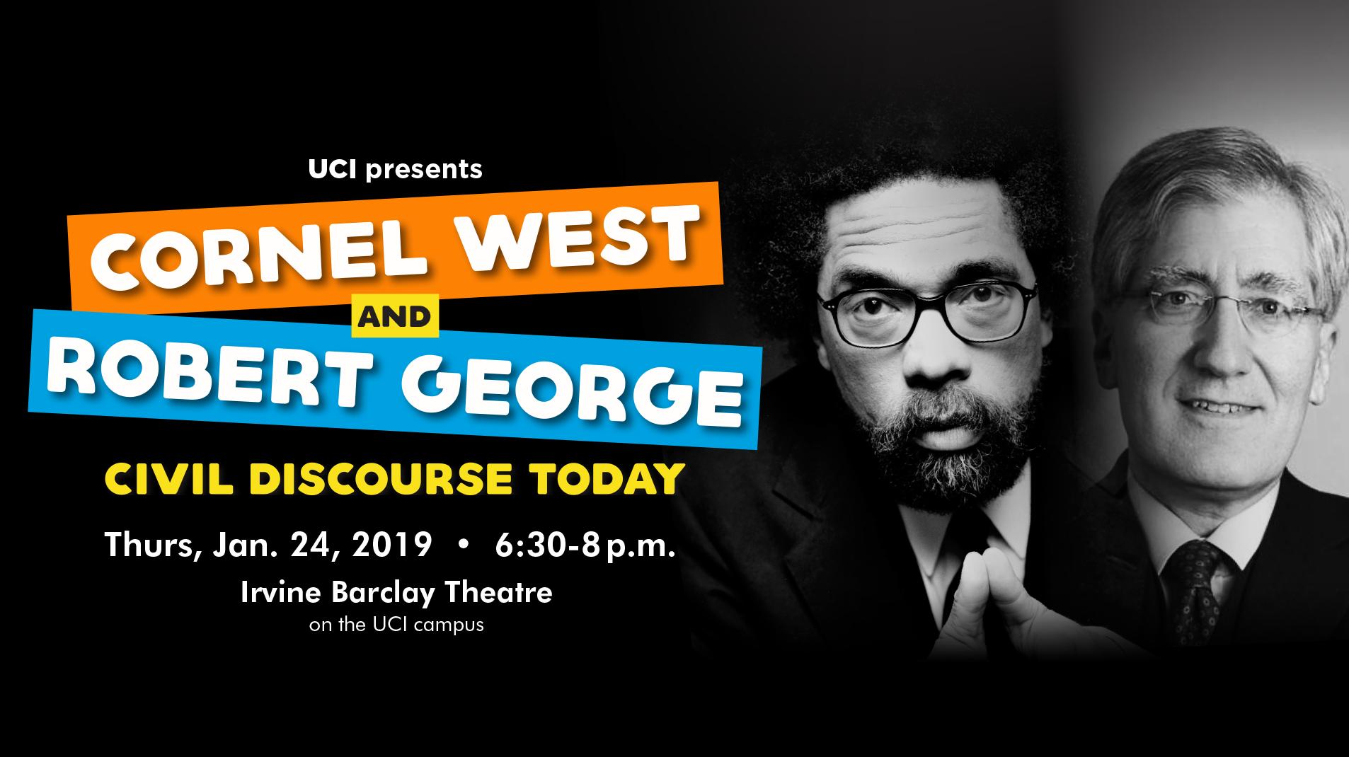 Cornel West & Robert George: Civil Discourse Today on Livestream